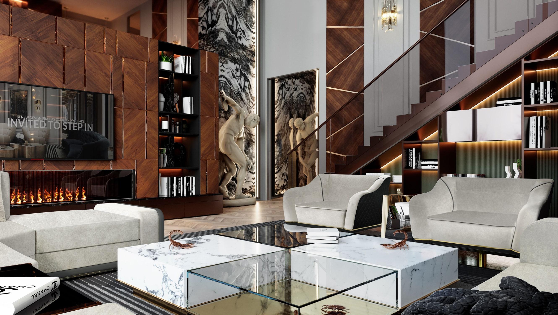 living room - $8,5 MILLION MODERN CLASSIC VILLA