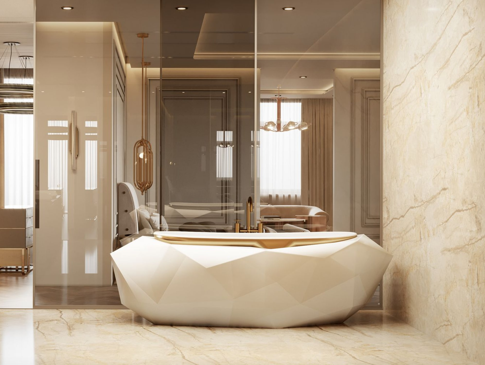 bathroom - AN EXCEPTIONAL CONTEMPORARY MODERN 16 MILLION PENTHOUSE IN MONACO