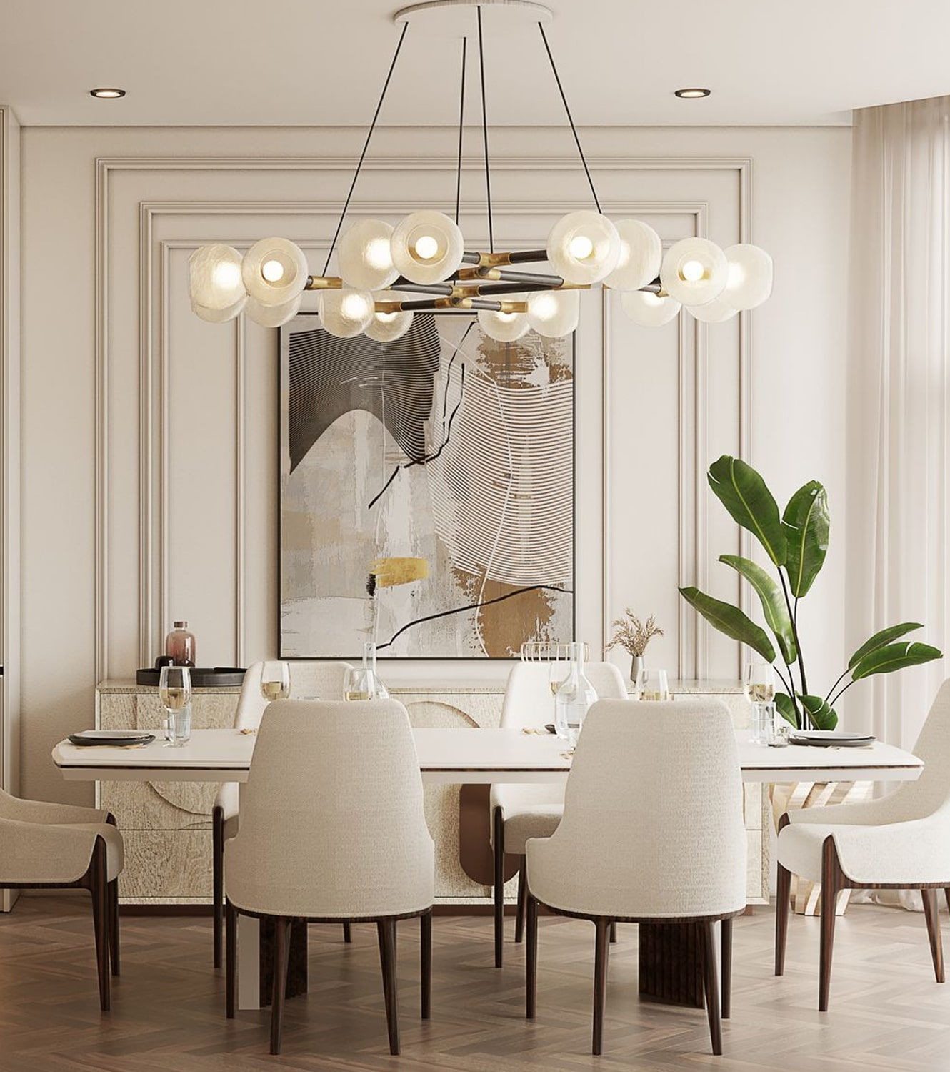 dining room - AN EXCEPTIONAL CONTEMPORARY MODERN 16 MILLION PENTHOUSE IN MONACO