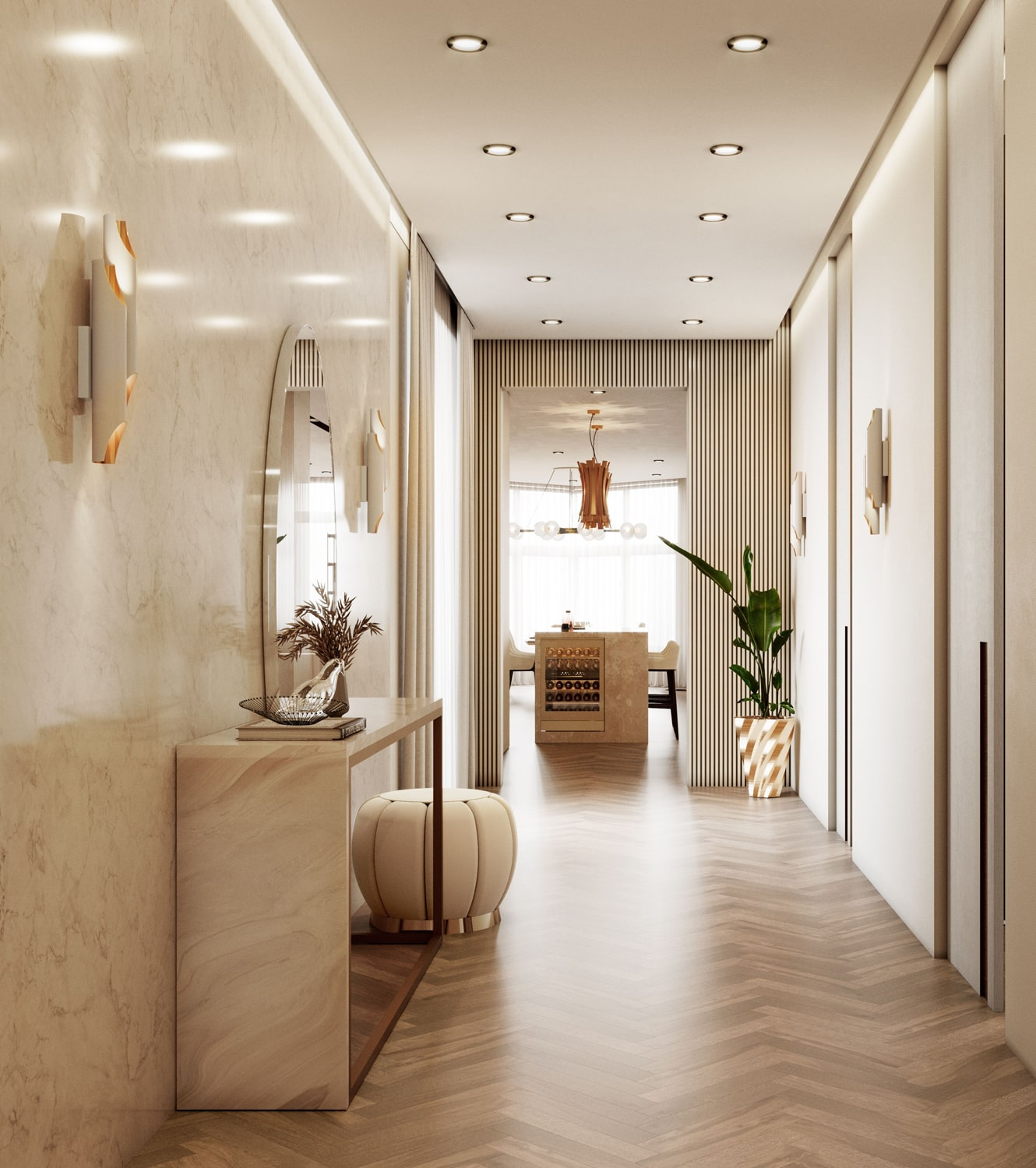 entryway - AN EXCEPTIONAL CONTEMPORARY MODERN 16 MILLION PENTHOUSE IN MONACO