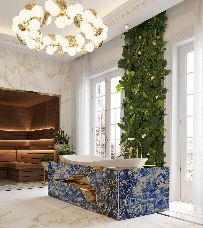 bathroom - BOCA DO LOBO'S DELUXE PENTHOUSE IN THE HEART OF PARIS