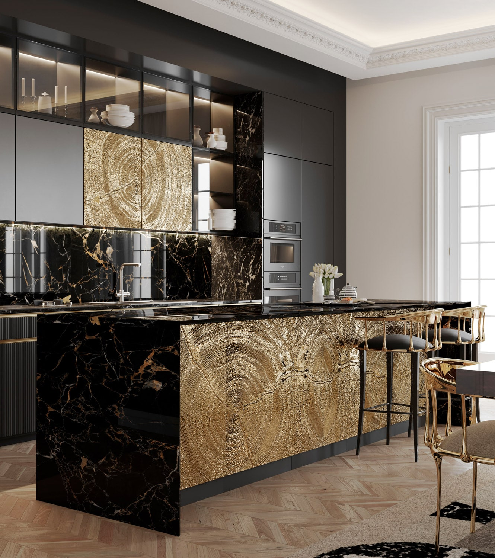 kitchen - BOCA DO LOBO'S DELUXE PENTHOUSE IN THE HEART OF PARIS