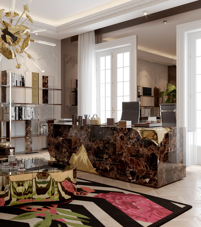 office - BOCA DO LOBO'S DELUXE PENTHOUSE IN THE HEART OF PARIS