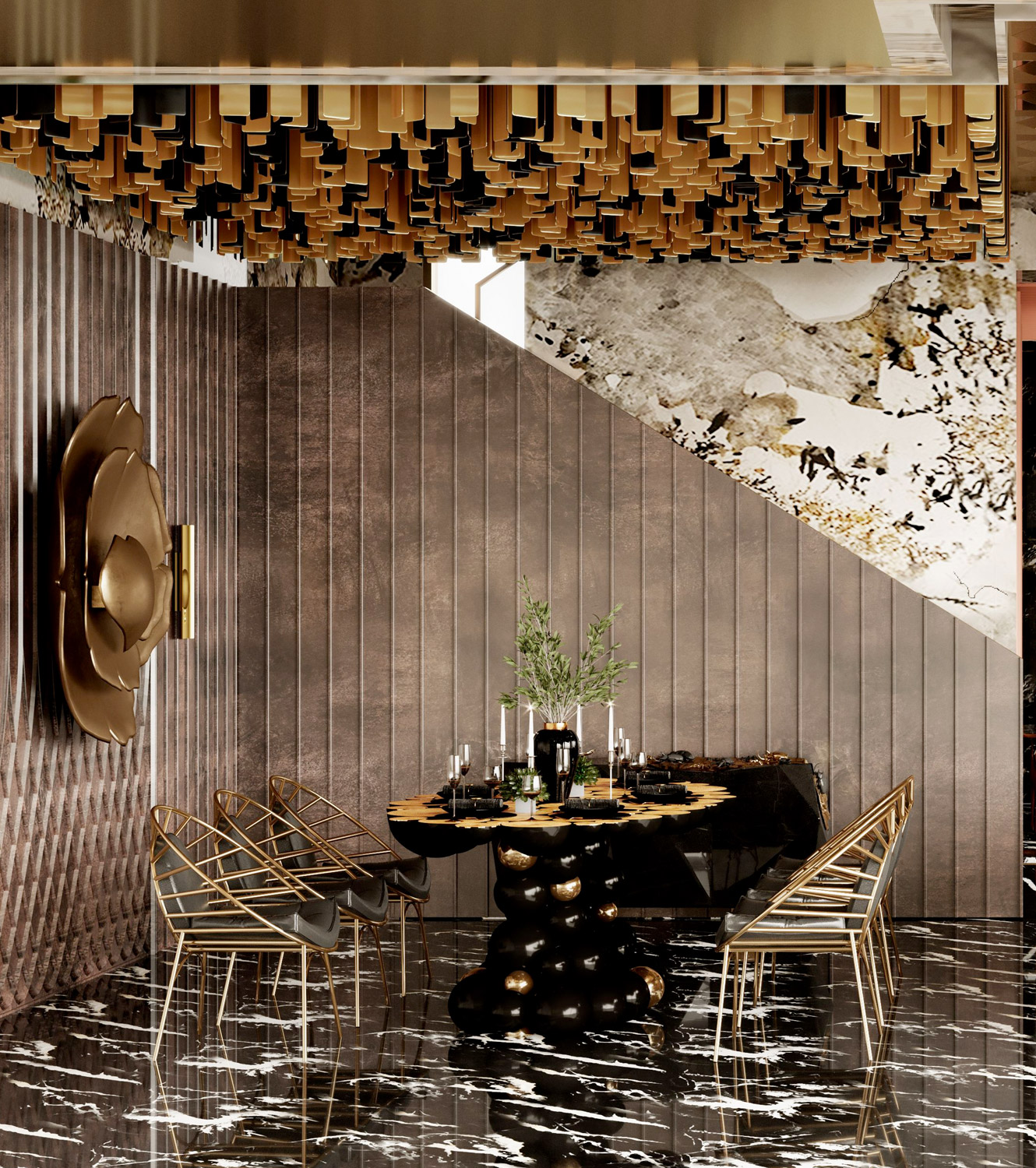 dining room - MULTI-MILLION ECLECTIC TOWNHOUSE IN HONG KONG