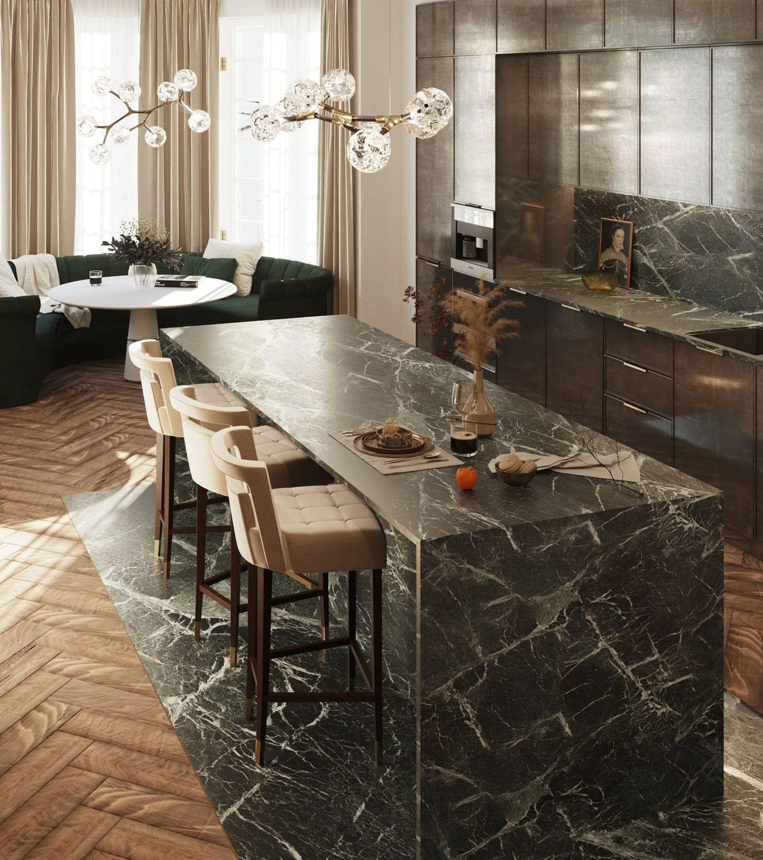 """kitchen - the """"éternel"""" parisian apartment"""